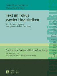 Studien Zur Text- Und Diskursforschung: Text im Fokus zweier Linguistiken