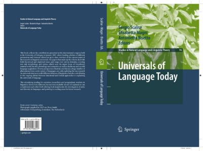 Studies in Natural Language and Linguistic Theory: Universals of Language Today