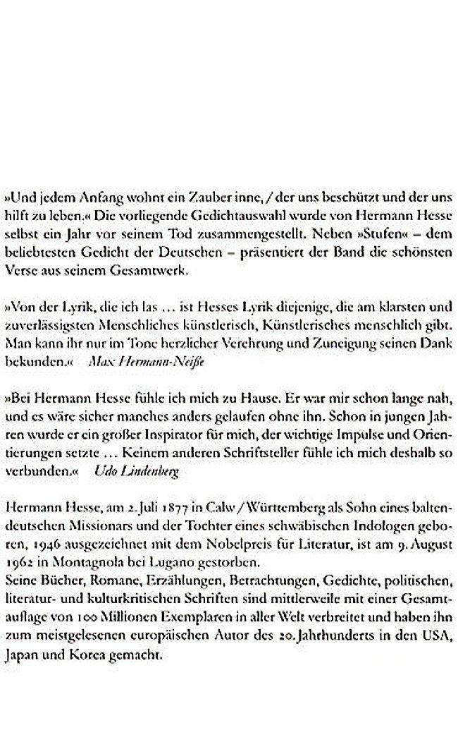Gedichte Hermann Hesse Jedem Anfang Wohnt Ein Zauber Inne