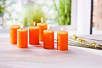 Stumpenkerzen, 6er Set, orange - Produktdetailbild 1