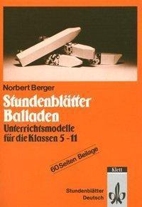 Stundenblätter Balladen, Norbert Berger