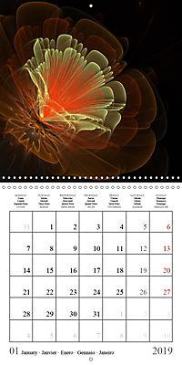 Stunning fractal flowers (Wall Calendar 2019 300 × 300 mm Square) - Produktdetailbild 1