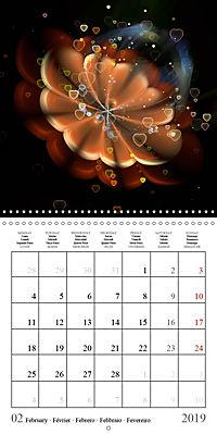 Stunning fractal flowers (Wall Calendar 2019 300 × 300 mm Square) - Produktdetailbild 2