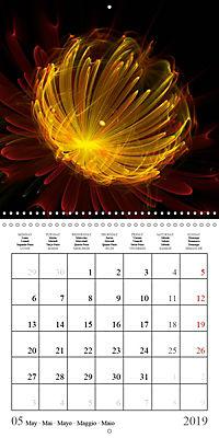 Stunning fractal flowers (Wall Calendar 2019 300 × 300 mm Square) - Produktdetailbild 5