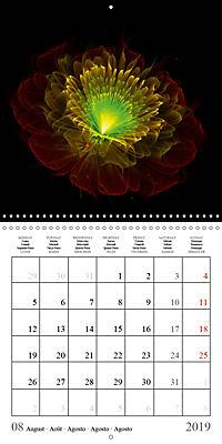 Stunning fractal flowers (Wall Calendar 2019 300 × 300 mm Square) - Produktdetailbild 8