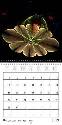 Stunning fractal flowers (Wall Calendar 2019 300 × 300 mm Square) - Produktdetailbild 4