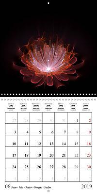 Stunning fractal flowers (Wall Calendar 2019 300 × 300 mm Square) - Produktdetailbild 6