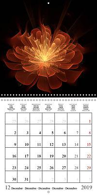 Stunning fractal flowers (Wall Calendar 2019 300 × 300 mm Square) - Produktdetailbild 12