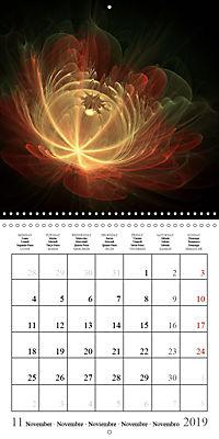 Stunning fractal flowers (Wall Calendar 2019 300 × 300 mm Square) - Produktdetailbild 11