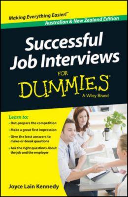 Successful Job Interviews For Dummies - Australia / NZ, Australian and  New Zeal, Joyce Lain Kennedy, Kate Southam