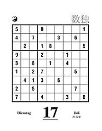 Sudoku Abreißkal. 2018 - Produktdetailbild 14