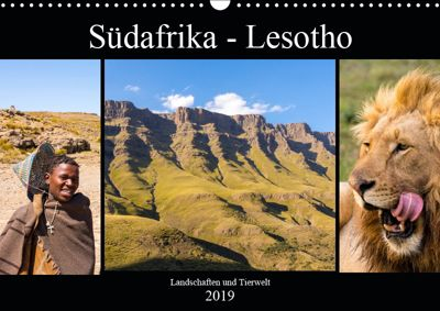 Südafrika - Lesotho (Wandkalender 2019 DIN A3 quer), Patrick Lehrbach