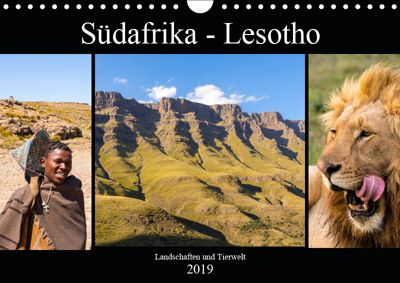 Südafrika - Lesotho (Wandkalender 2019 DIN A4 quer), Patrick Lehrbach