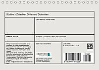 Südtirol - Zwischen Ortler und Dolomiten (Tischkalender 2019 DIN A5 quer) - Produktdetailbild 13