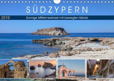 Südzypern, sonnige Mittelmeerinsel mit bewegter Historie (Wandkalender 2019 DIN A4 quer), Joana Kruse
