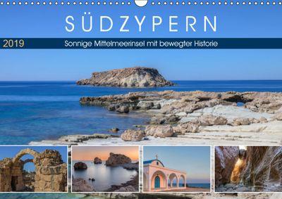 Südzypern, sonnige Mittelmeerinsel mit bewegter Historie (Wandkalender 2019 DIN A3 quer), Joana Kruse