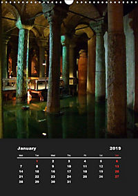 Sultanahmet - Historic Center of Istanbul / UK-Version (Wall Calendar 2019 DIN A3 Portrait) - Produktdetailbild 1
