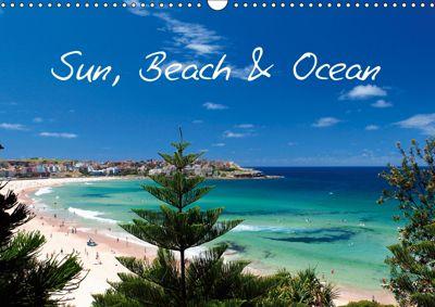 Sun, Beach & Ocean / UK - Version (Wall Calendar 2019 DIN A3 Landscape), Melanie Viola
