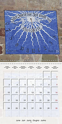 Sundials (Wall Calendar 2019 300 × 300 mm Square) - Produktdetailbild 6