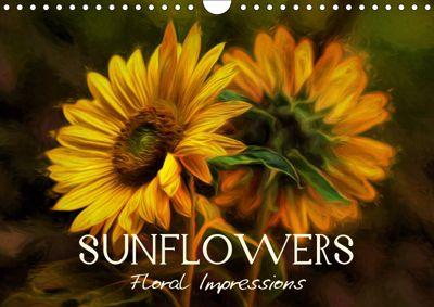 Sunflowers - Floral Impressions (Wall Calendar 2019 DIN A4 Landscape), Vronja Photon