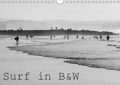 Surf in B&W (Wall Calendar 2019 DIN A4 Landscape), Jill Robb