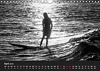 Surf in B&W (Wall Calendar 2019 DIN A4 Landscape) - Produktdetailbild 4