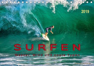 Surfen - Wasser, Wind und coole Typen (Tischkalender 2019 DIN A5 quer), Peter Roder