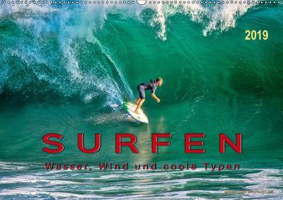 Surfen - Wasser, Wind und coole Typen (Wandkalender 2019 DIN A2 quer), Peter Roder