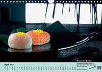 Sushi - Sashimi mit Anleitung für perfektes Gelingen (Wandkalender 2019 DIN A4 quer) - Produktdetailbild 4