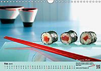 Sushi - Sashimi mit Anleitung für perfektes Gelingen (Wandkalender 2019 DIN A4 quer) - Produktdetailbild 5