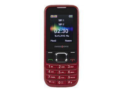 SWISSTONE SC 230 rot Dual-Sim Bluetooth Taschenlampe Kamera Freisprechfunktion Alarmfunktion Kalender 150 Telefonbucheinträge