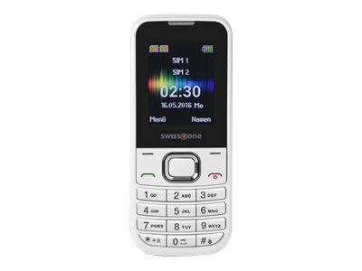 SWISSTONE SC 230 weiss Dual-Sim Bluetooth Taschenlampe Kamera Freisprechfunktion Alarmfunktion Kalender 150 Telefonbucheinträge