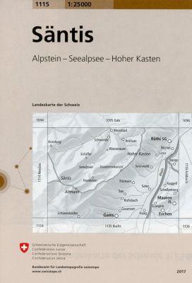 Swisstopo 1 : 25 000 Säntis