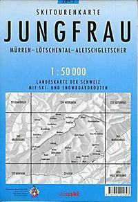 Swisstopo 1 : 50 000 Jungfrau Skitourenkarte - Produktdetailbild 1