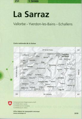 Swisstopo 1 : 50 000 La Sarraz -  pdf epub