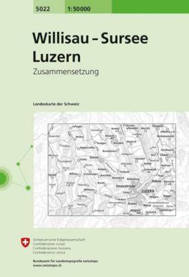 Swisstopo 1 : 50 000 Willisau Sursee Luzern