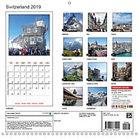Switzerland 2019 (Wall Calendar 2019 300 × 300 mm Square) - Produktdetailbild 13
