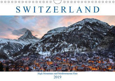 Switzerland (Wall Calendar 2019 DIN A4 Landscape), Joana Kruse