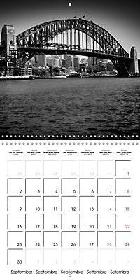 SYDNEY Monochrome Highlights (Wall Calendar 2019 300 × 300 mm Square) - Produktdetailbild 9