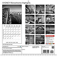 SYDNEY Monochrome Highlights (Wall Calendar 2019 300 × 300 mm Square) - Produktdetailbild 13