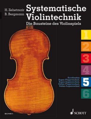 Systematische Violintechnik, 6 Hefte, Benjamin Bergmann, Helmut Zehetmair