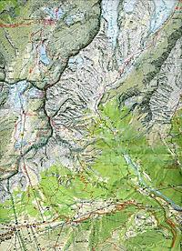 Tabacco topographische Wanderkarte Adamello, Presanella - Produktdetailbild 1