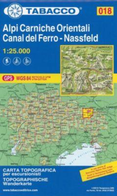 Tabacco topographische Wanderkarte Alpi Carniche