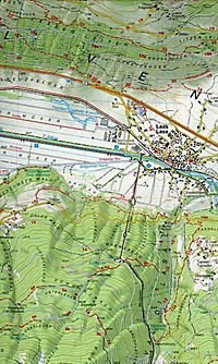 Tabacco topographische Wanderkarte Vinschgau, Sesvenna; Val Venosta, Sesvenna - Produktdetailbild 1