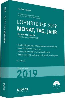 Tabelle, Lohnsteuer 2019 Monat, Tag, Jahr