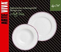 Tafelservice AMOROSA grau/pink 12tlg. - Produktdetailbild 1