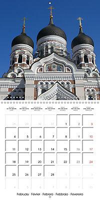 Tallinn. Capital of Estonia (Wall Calendar 2019 300 × 300 mm Square) - Produktdetailbild 2