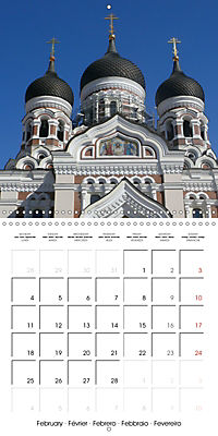 Tallinn. Capital of Estonia (Wall Calendar 2019 300 × 300 mm Square) - Produktdetailbild 2