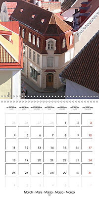Tallinn. Capital of Estonia (Wall Calendar 2019 300 × 300 mm Square) - Produktdetailbild 3