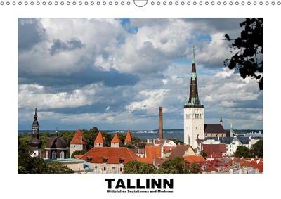 Tallinn - Mittelalter, Sozialismus und Moderne (Wandkalender 2019 DIN A3 quer), Christian Hallweger
